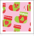 Stockings - Pink - Winter Holiday - QuickStitch Embroidery Paper - One 8.5in x 11in Sheet - CLOSEOUT
