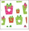 Presents - White/Red/Pink - Winter Holiday - QuickStitch Embroidery Paper - One 8.5in x 11in Sheet - CLOSEOUT