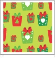 Presents - Light Green - Winter Holiday - QuickStitch Embroidery Paper - One 8.5in x 11in Sheet
