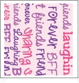 Best Friends Forever - Light Pink - Words - QuickStitch Embroidery Paper - One 8.5in x 11in Sheet