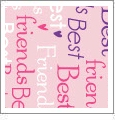 Best Friends - Light Pink - Words - QuickStitch Embroidery Paper - One 8.5in x 11in Sheet