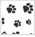 Paw Prints - QuickStitch Embroidery Paper - One 8.5in x 11in Sheet- CLOSEOUT