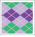 Argyle 13 - QuickStitch Embroidery Paper - One 8.5in x 11in Sheet