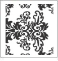 Damask  - QuickStitch Embroidery Paper - One 8.5in x 11in Sheet
