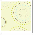 Circles  - QuickStitch Embroidery Paper - One 8.5in x 11in Sheet - CLOSEOUT