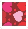 Hearts 5 - QuickStitch Embroidery Paper - One 8.5in x 11in Sheet - CLOSEOUT