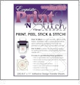 Exquisite Print N Stitch Hand Embroidery Wash Away Paper - 25 Sheet Pack