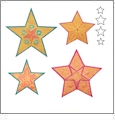 AccuQuilt GO! 5 Point Star Medley by Sarah Vedeler - 55311