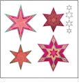 AccuQuilt GO! 6 Point Star Medley by Sarah Vedeler - 55313
