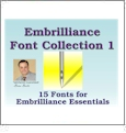 Font Pack 1 for Embrilliance Essentials Embroidery Software DOWNLOADABLE