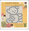 "Teddy Bear - Crystal Daisy Baby 2""x2"" Iron-On Crystals by Mark Richards CLOSEOUT"