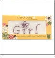 "Girl  - Crystal Daisy Baby 1.25"" x 2.5"" Iron-On Crystals by Mark Richards CLOSEOUT"
