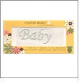 "Baby - Crystal Daisy Baby 1"" x 2"" Iron-On Pearls by Mark Richards CLOSEOUT"