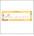 "Miss January - Crystal Daisy Baby .75"" x 3.375"" Iron-On Crystals by Mark Richards CLOSEOUT"