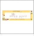 "Miss April - Crystal Daisy Baby .75"" x 2.375"" Iron-On Crystals by Mark Richards CLOSEOUT"