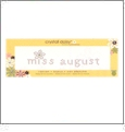 "Miss August - Crystal Daisy Baby .75"" x 3"" Iron-On Crystals by Mark Richards CLOSEOUT"