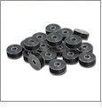 Exquisite Embroidery Black Prewound Plastic-Sided Polyester Bobbins - Box of 144 Size A 15 Class