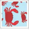 Crabs  - QuickStitch Embroidery Paper - One 8.5in x 11in Sheet