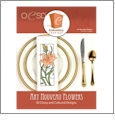 Art Nouveau Flowers Embroidery Designs By Oklahoma Embroidery on Multi-Format CD-ROM