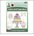 Cakes & Cupcakes Embroidery Designs by John Deer's Adorable Ideas on a Multi-Format CD-ROM AICAC