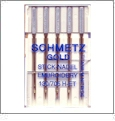 Schmetz GOLD Titanium Nitride Embroidery Needles 75/11 - 5 Needle Pack