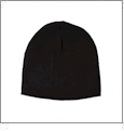 "8.5"" Knit Beanie Embroidery Blanks - Black"