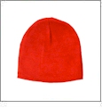"8.5"" Knit Beanie Embroidery Blanks - Bright Orange"
