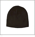 "8.5"" Knit Beanie Embroidery Blanks - CHARCOAL - IRREGULAR"