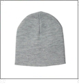 "8.5"" Knit Beanie Embroidery Blanks - Dark Ash"