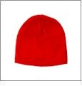 "8.5"" Knit Beanie Embroidery Blanks - Red"