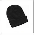 "12"" Solid Knit Beanie Embroidery Blanks - Black"