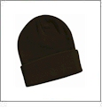 "12"" Solid Knit Beanie Embroidery Blanks - Brown"