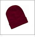 "12"" Solid Knit Beanie Embroidery Blanks - Cardinal"