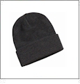 "12"" Solid Knit Beanie Embroidery Blanks - Charcoal"