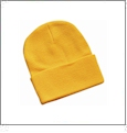 "12"" Solid Knit Beanie Embroidery Blanks - Gold"