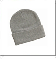 "12"" Solid Knit Beanie Embroidery Blanks - Heather Gray"
