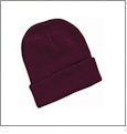 "12"" Solid Knit Beanie Embroidery Blanks - Maroon"