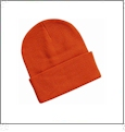 "12"" Solid Knit Beanie Embroidery Blanks - Orange"