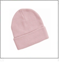 "12"" Solid Knit Beanie Embroidery Blanks - Pink"