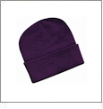 "12"" Solid Knit Beanie Embroidery Blanks - Purple"