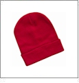"12"" Solid Knit Beanie Embroidery Blanks - Red"
