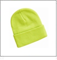 "12"" Solid Knit Beanie Embroidery Blanks - Safety Yellow (Actually More Like Green)"