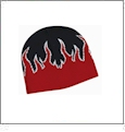 Magic Flame Beanie Embroidery Blanks - Black/White/Red