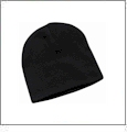 "8"" Knit Beanie Embroidery Blanks - Black"