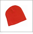"8"" Knit Beanie Embroidery Blanks - Blaze Orange"