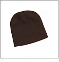 "8"" Knit Beanie Embroidery Blanks - Brown"