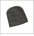 "8"" Knit Beanie Embroidery Blanks - Charcoal"