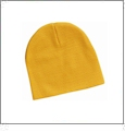 "8"" Knit Beanie Embroidery Blanks - Gold"