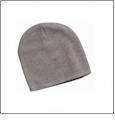 "8"" Knit Beanie Embroidery Blanks - Heather Gray"