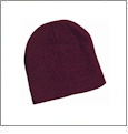 "8"" Knit Beanie Embroidery Blanks - Maroon"